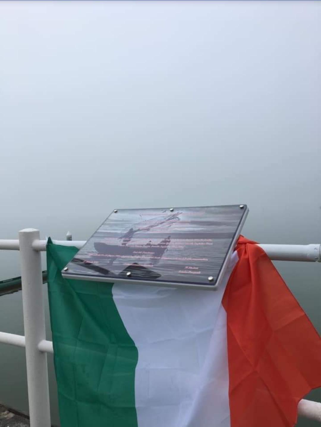 Targa in memoria di Don Ottavio Posta, Giusto fra le Nazioni, e dei 15 pescatori